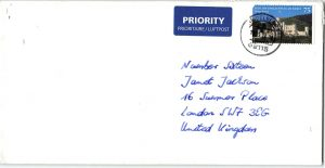 Handgeschriebene Kuverts Briefe in Handschrift Pensaki