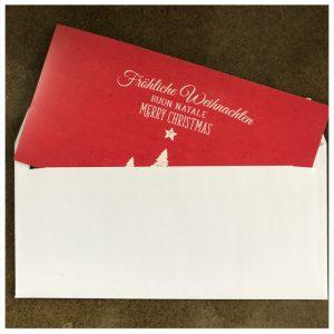 handschriftliche Weihnachtskarten von Roboterhand ⎟Pensaki.com
