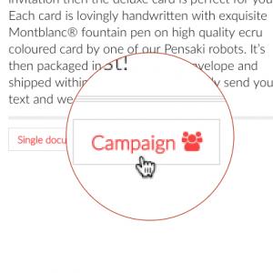 Handwritten Direct Mail with Pensaki.com Campaign