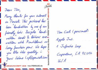 Adressierte Postkarte DIN A6 quer