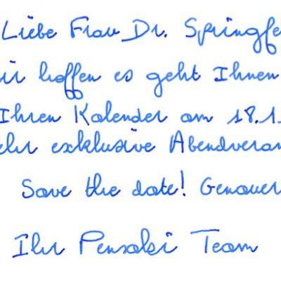 Standard Handschrift Pensaki Schreibschrift fortlaufend GLEN