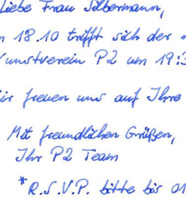 Standard Handschrift Pensaki Schreibschrift fortlaufend SETH