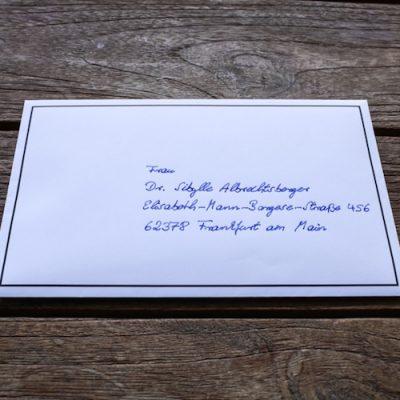 Trauerkarten in Handschrift - Kondolenz