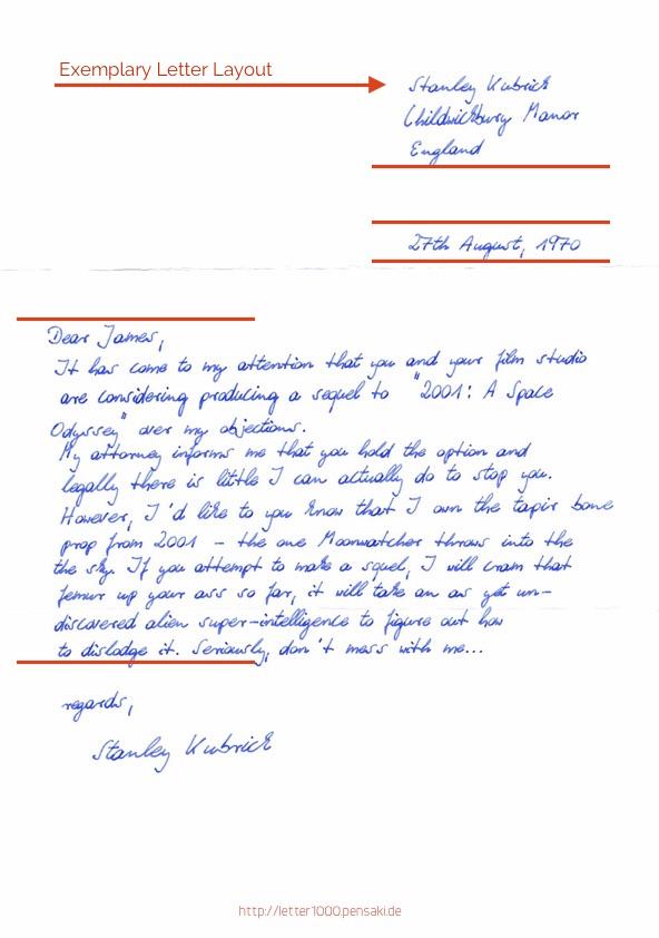 Handschrift Brief Layout Pensaki