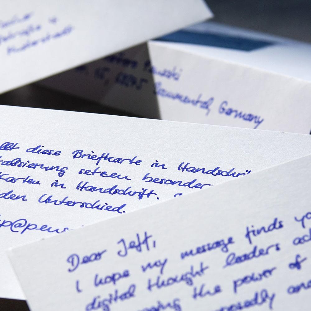 bespoke handwritten cards from Pensaki