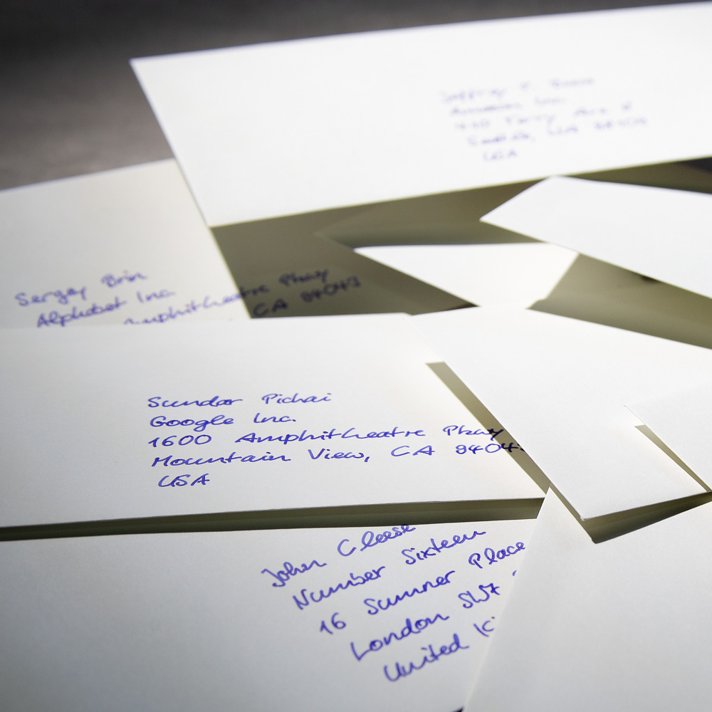 handwritten envelopes service from Pensaki
