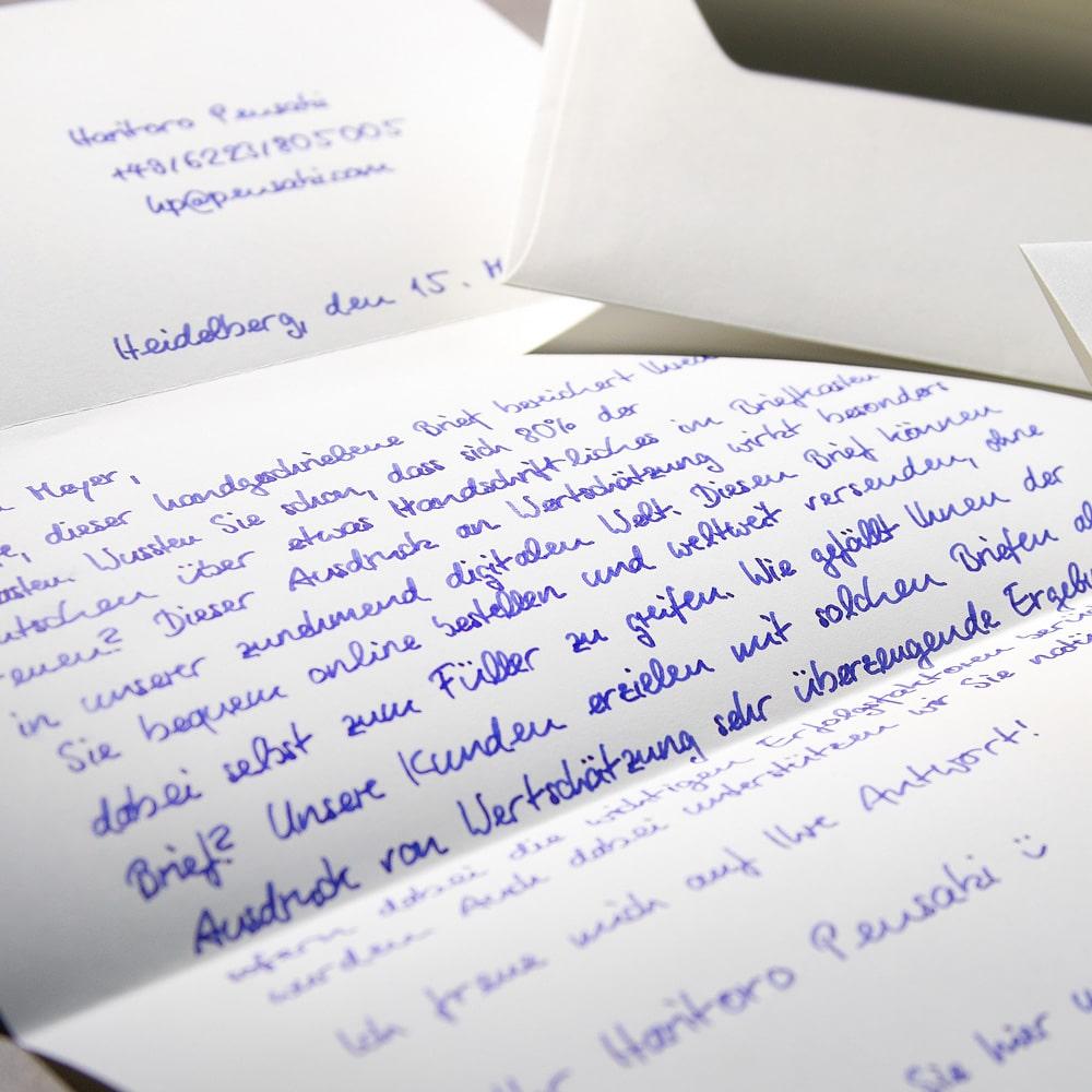 handwritten letters from Pensaki