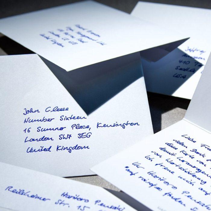 Handschriftlich adressierte Briefumschläge garantieren hohe Öffnungsraten