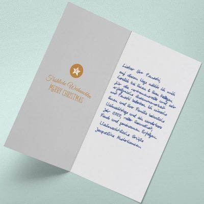 Handgeschriebene Weihnachtskarten von Pensaki begeistern jedermann!