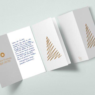 Handgeschriebene Weihnachtskarten von Pensaki begeistern Ihre Kunden